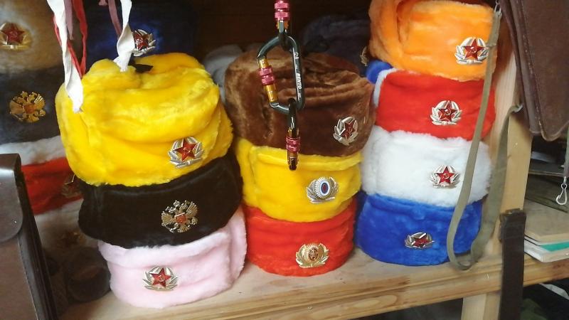 шапка-ушанка с красной звездой