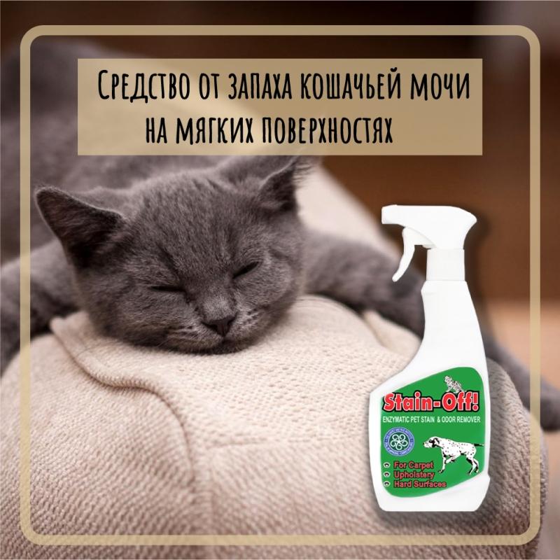 Средство от запаха кошачьей мочи на мягких поверхностях
