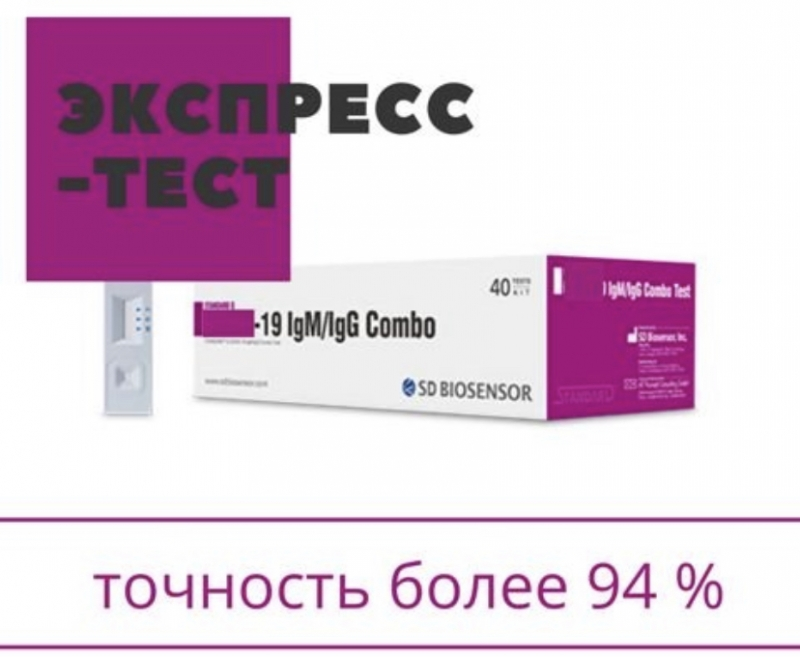 Экспресс-тест на коронавирус COVID-19 и антитела. Корея.