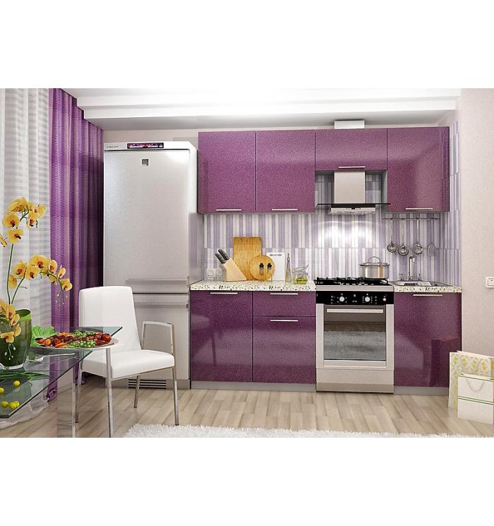 Кухонный гарнитур сирень Олива 2,1 м