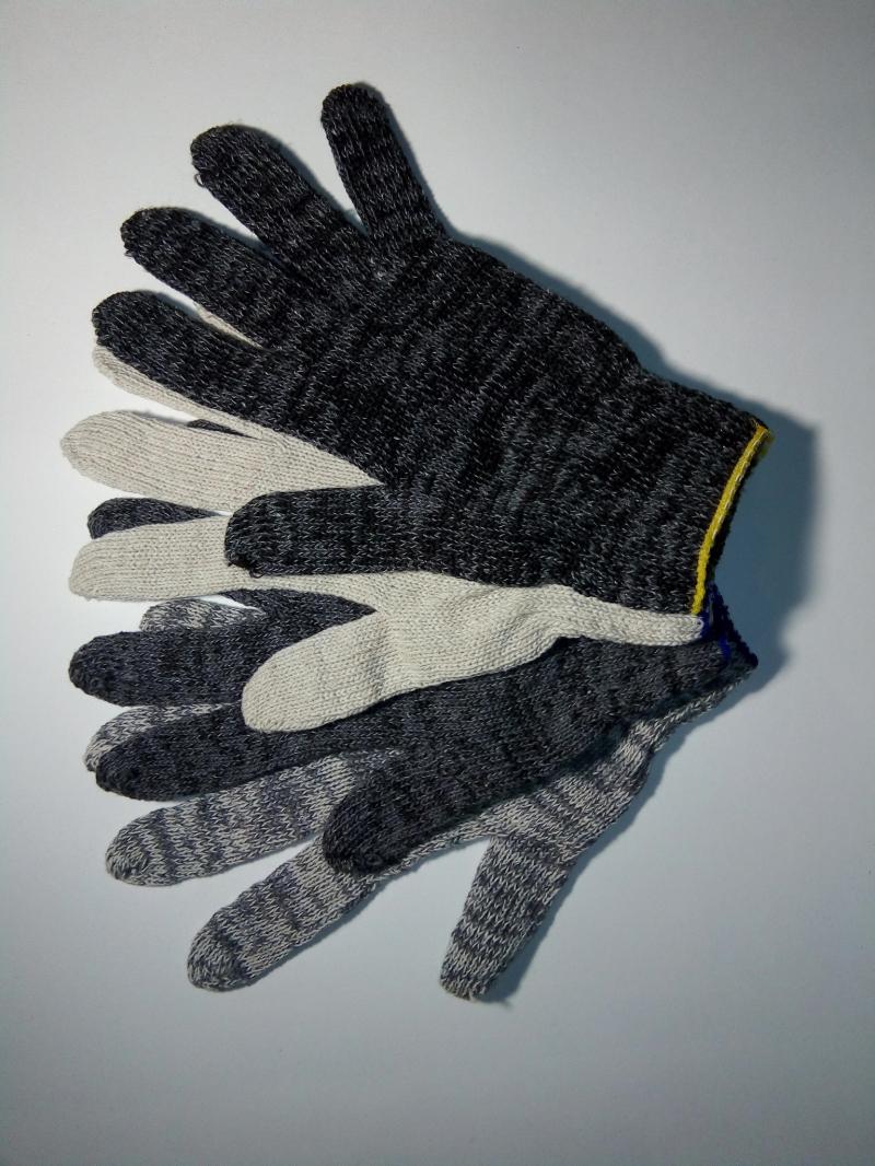 Перчатки ХБ, ХБ с ПВХ, латексный облив