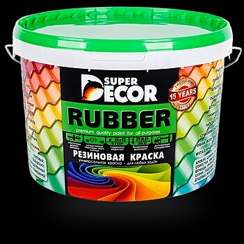 Резиновая краска Super Decor Rubber Супер Декор