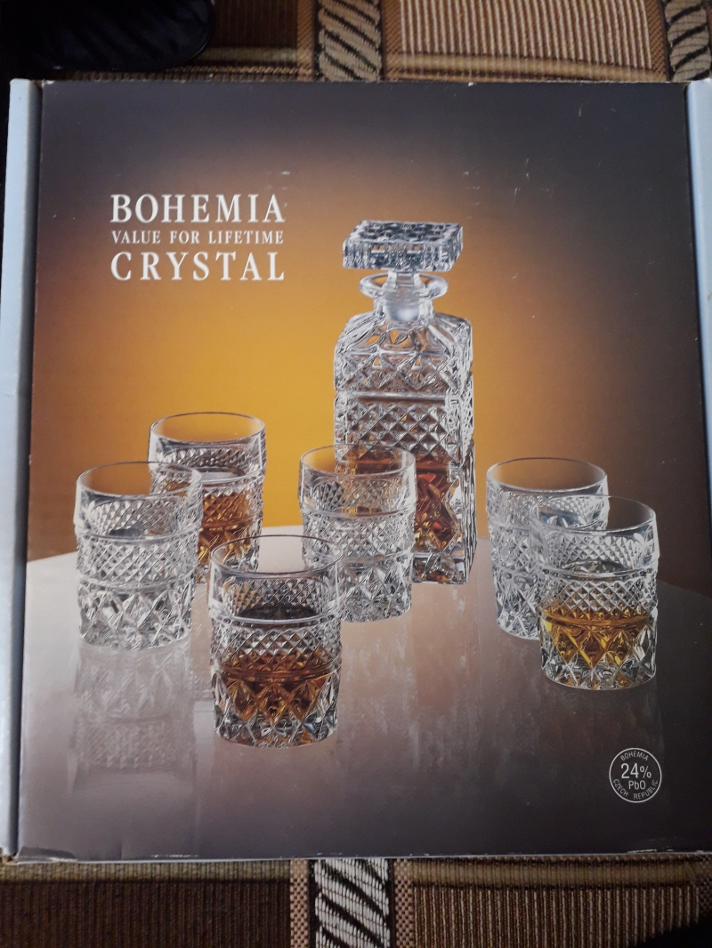Набор для виски из Богемского хрусталя