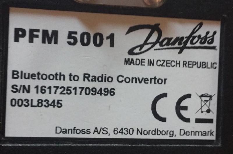 Прибор для измерения перепада давления и расхода PFM 5001, Danfoss