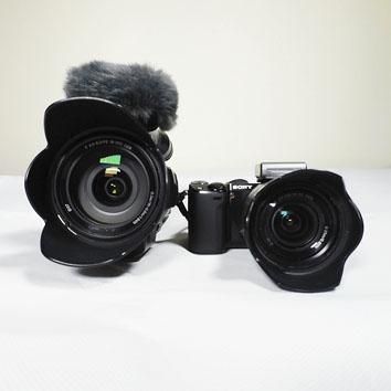 Видеокамера Sony NEX-VG30EH и фотокамера Sony NEX-5R