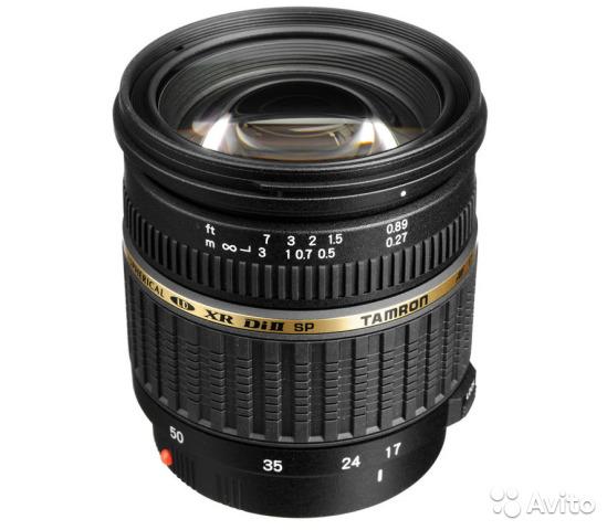 Объектив tamron SP AF 17-50mm F/2.8 Nikon F