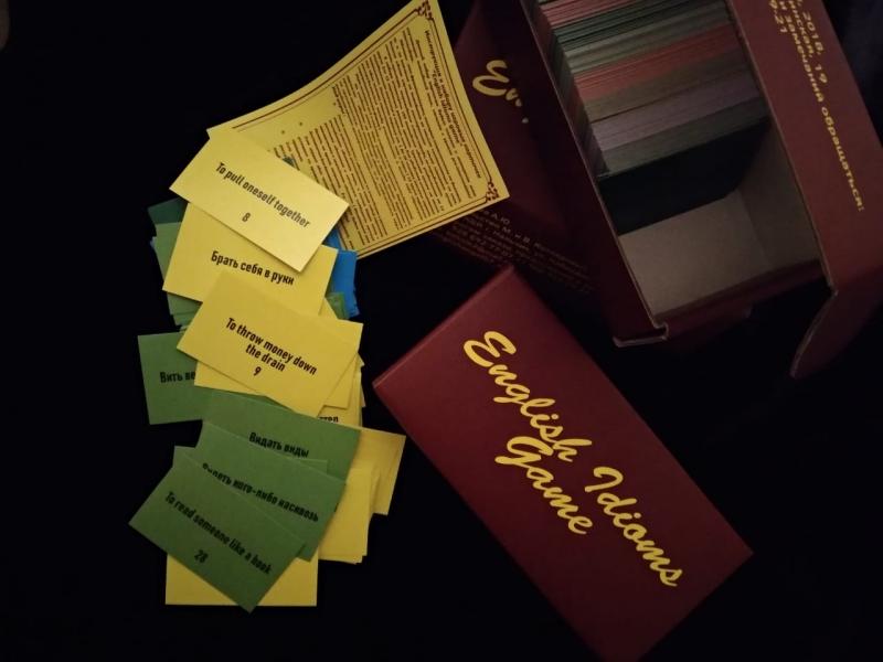 настольная игра для изучения английского языка