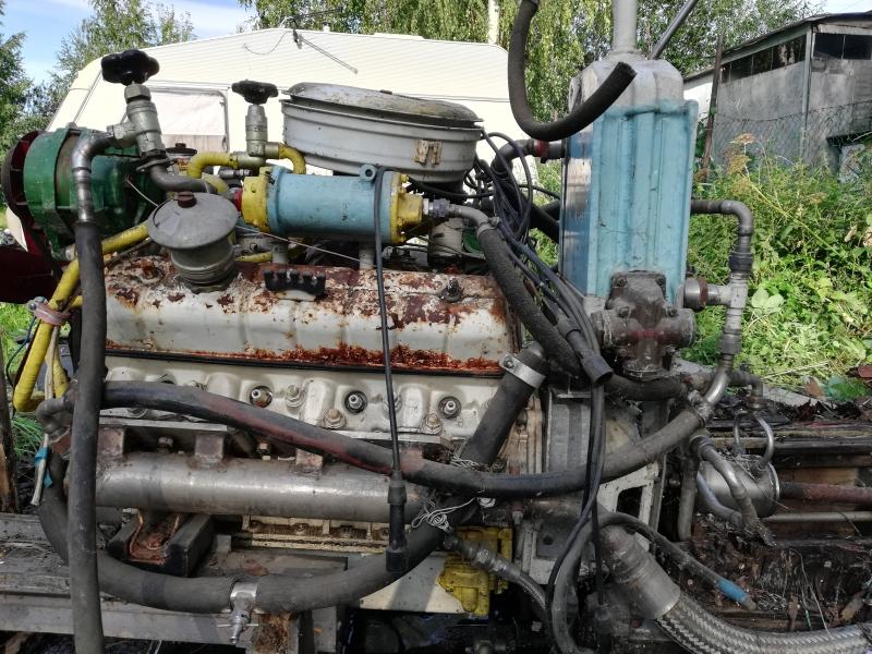 Двигатель газ 53 в сборе с водометом