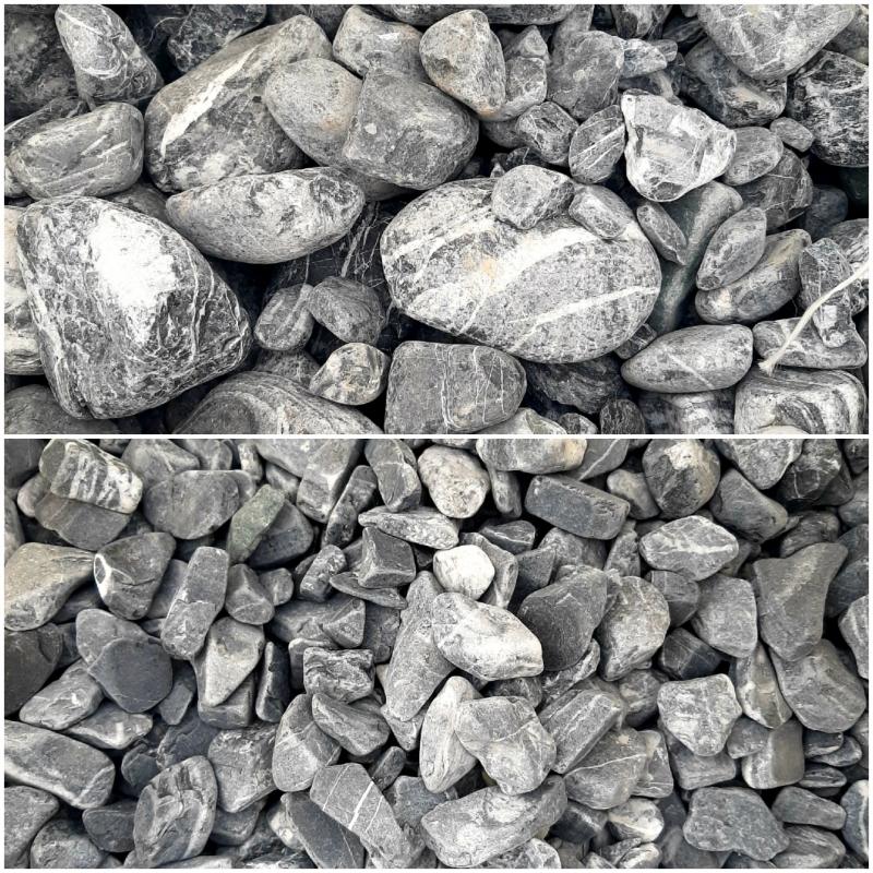 Камень для габионов, крошка декоративная, камень галтованный.
