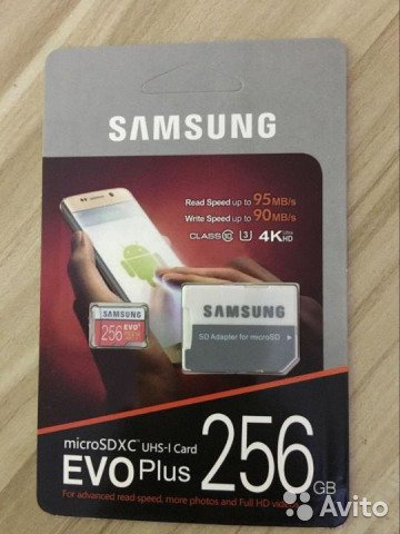 Картs памяти TF SAMSUNG 32Gb - 256Gb
