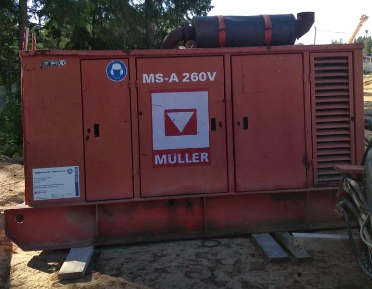 Вибропогружатель шпунта MULLER MS16HFV с подающей станцией