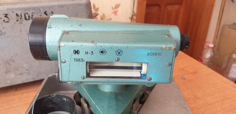 Нивелир оптический Н-3 рабочий, с Государственным знаком качества 1983 г.