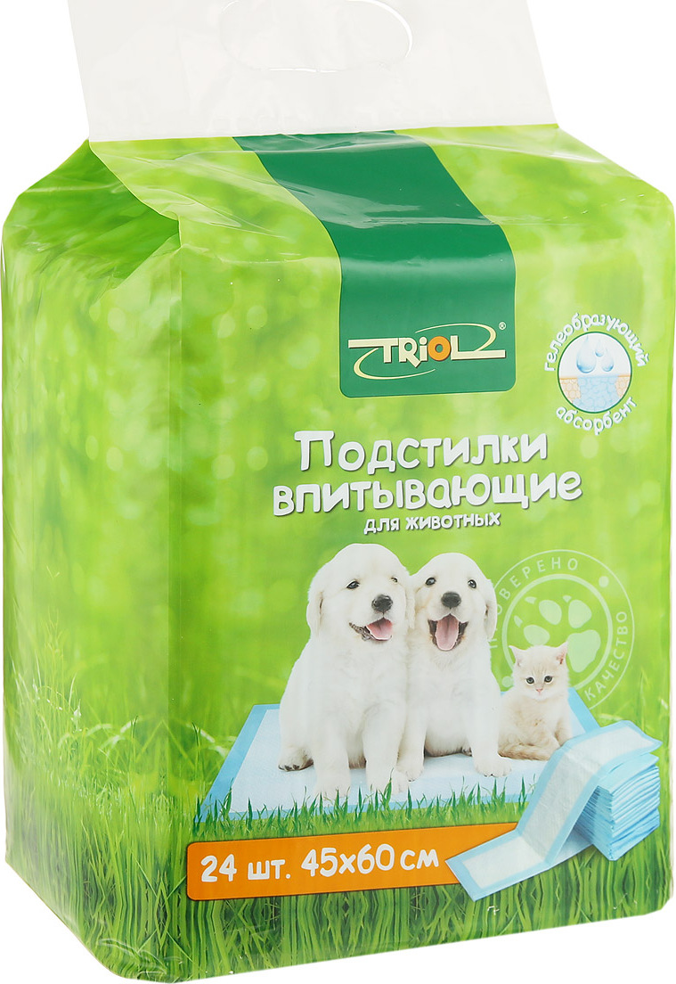 Пеленки для животных Triol 45x60 24 шт