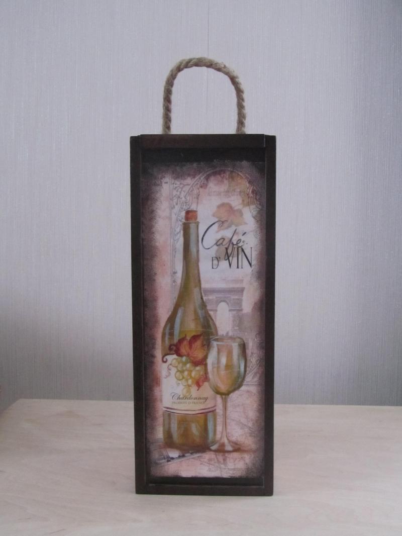 Короб для вина декупаж подарочный