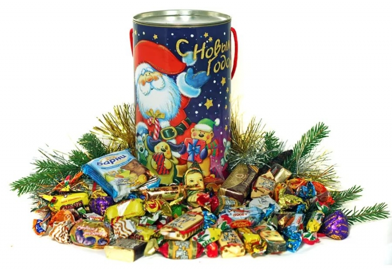 Оптом Новогодние сладкие подарки
