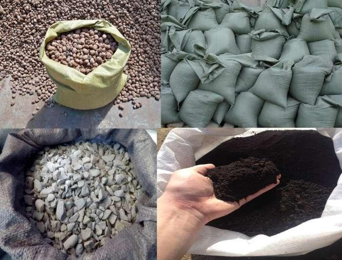Песок,щебень,навоз и керамзит в мешках