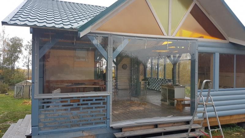 Мягкие окна ПВХ, прозрачные шторы для беседки веранды террасы