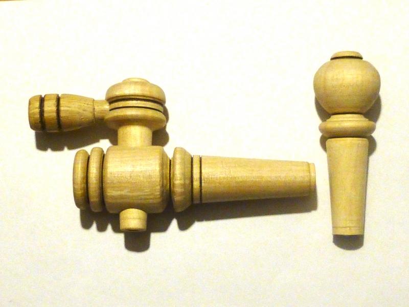 Кран деревянный для бочки + пробка