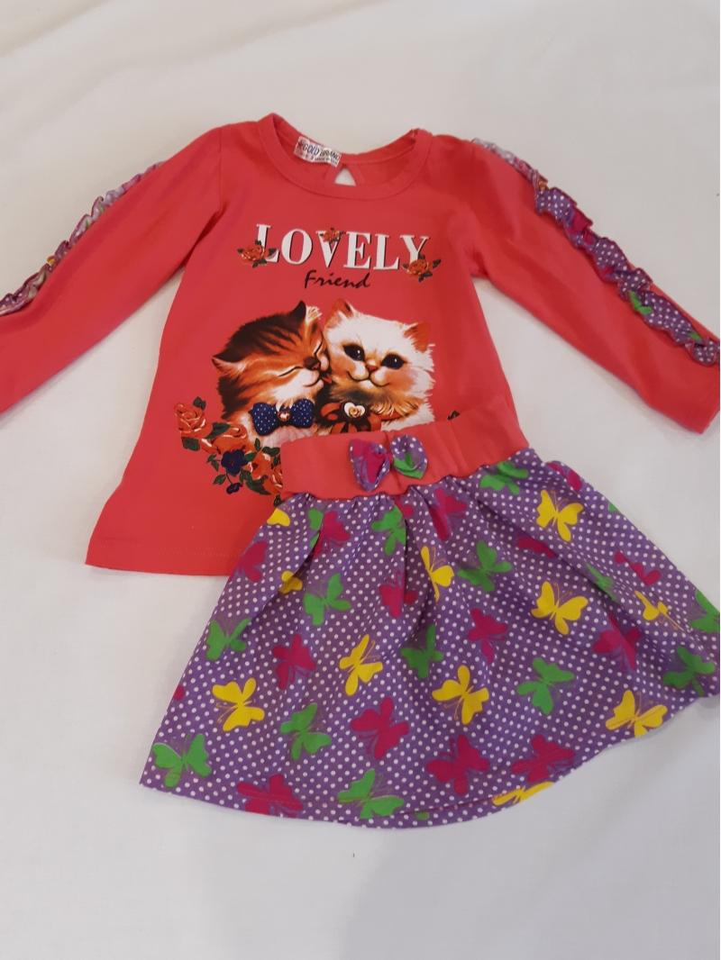 Комплект юбка и кофта для девочки