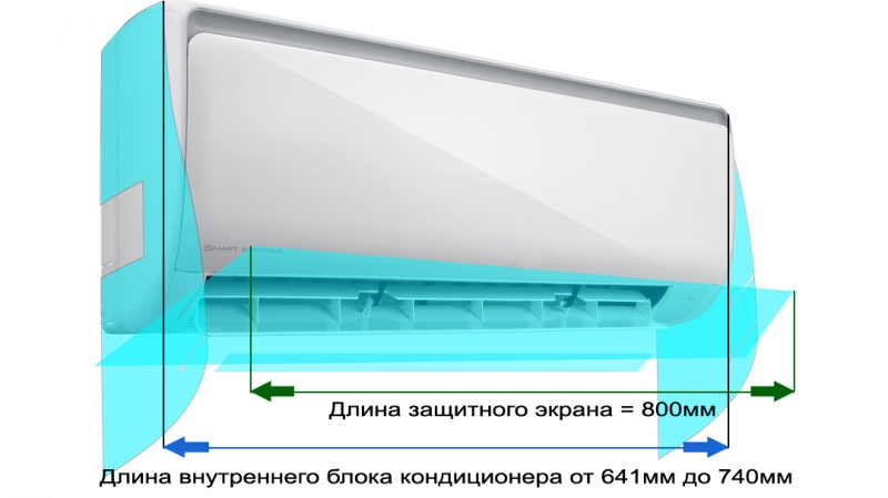 Защитный экран для кондиционера (до 740мм)