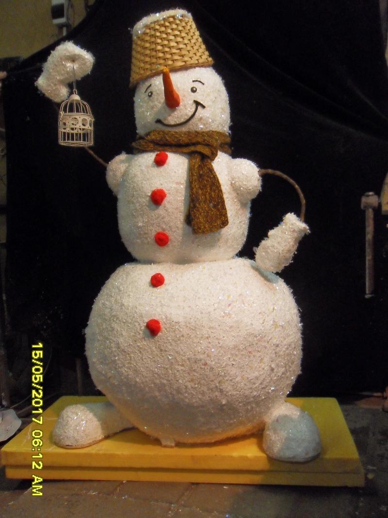 Снеговик кукла ростовой бутафорский 150см