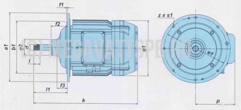 Электродвигатель подъема тельферов кге 2011-6